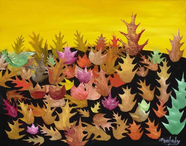 Fallen Leaves - 26x32w - $250